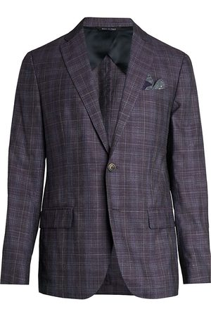 Saks Fifth Avenue Men's COLLECTION Plaid Sportcoat - - Size 50 R