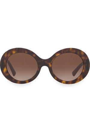 VALENTINO Women's Allure 52MM Retro Round Sunglasses