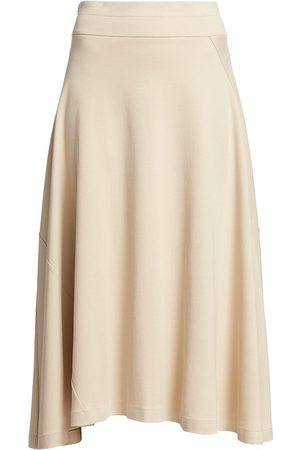 Joan Vass Women's Petite A-Line Midi Skirt - - Size Petite Large