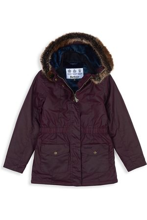 Barbour Little Girl's & Girl's Faux Fur Trim Hooded Parka - - Size XXL (14-15)