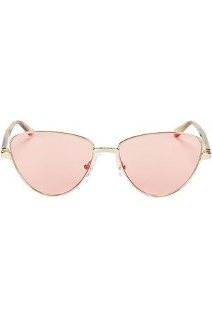 Balenciaga Women's 57MM Semi-Round Wire Sunglasses