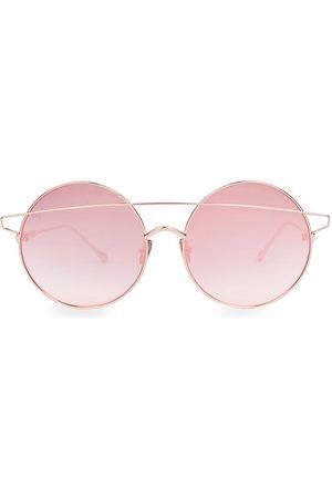 For Art's Sake Women's Mykonos 60MM Round Bar Aviator Sunglasses