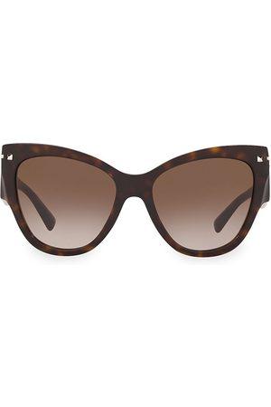 VALENTINO Women's Legacy 55MM Oblong Cateye Sunglasses