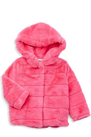 Apparis Little Girl's & Girl's Faux Fur Goldie Coat - - Size 8