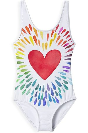 STELLA COVE Little Girl's & Girl's Happy Hearts One-Piece Swimsuit - - Size 6