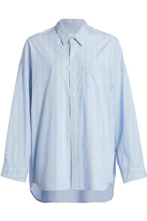R13 Women's Drop Neck Oxford Shirt - - Size Small