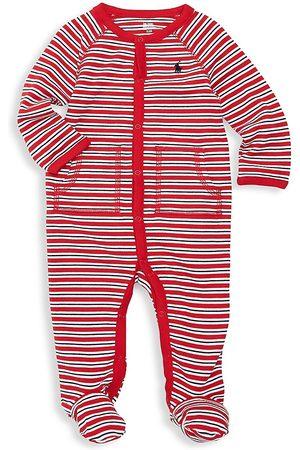 Ralph Lauren Baby Boy's Striped Cotton Footie - - Size 9 Months