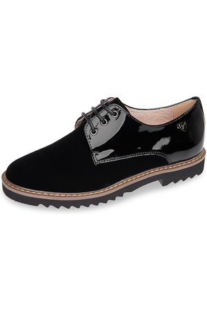 Venettini Girl's Patent Leather & Suede Dress Shoes - - Size 36 EU/ 4.5 US (Child)