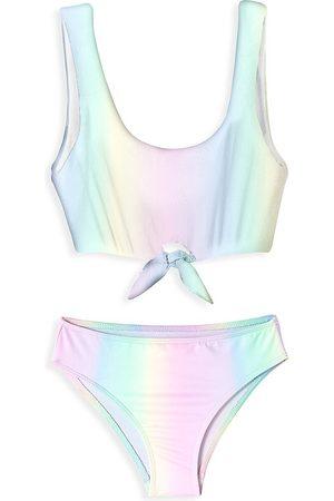 STELLA COVE Little Girl's & Girl's 2-Piece Tie-Dye Knotted Bikini Set
