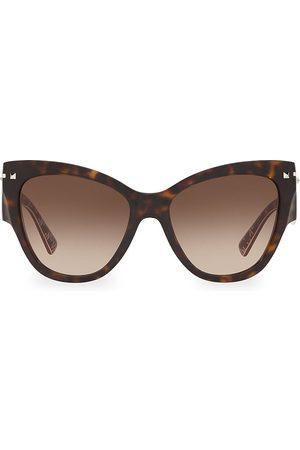 VALENTINO Women's 55MM Butterfly Sunglasses