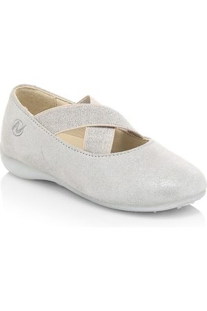 Naturino Little Girl's & Girl's Criss Cross Suede Ballet Flats - - Size 25 EU (8 Toddler US)