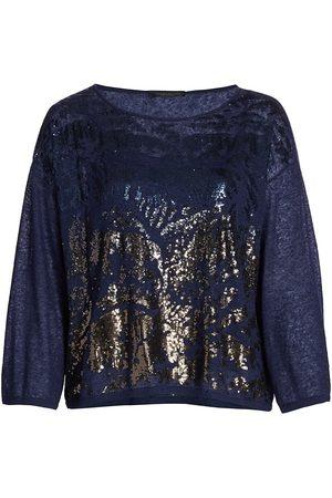Persona by Marina Rinaldi Women's Elegante Arabesca Sequin Sweater - - Size Large