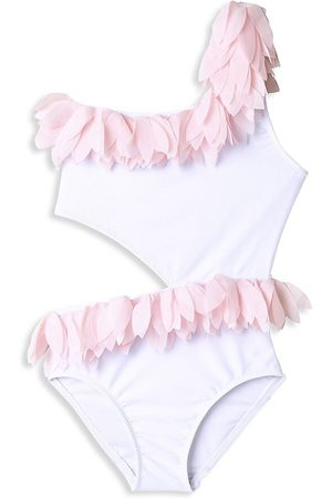 STELLA COVE Little Girl's & Girl's One-Piece UPF 50+ Petal Side Cutout Swimsuit - - Size 12