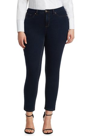 Ashley Graham x Marina Rinaldi Women's Idillio Jersey Denim Slim Jeans - - Size 10 W