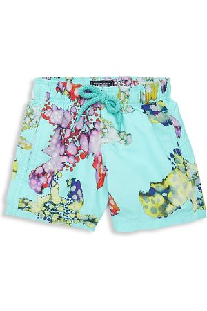 Vilebrequin Little Boy's & Boy's Jim Watercolor Turtles Swim Trunks - - Size 14