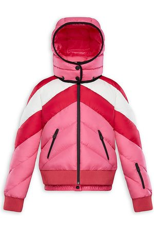 Moncler Little Girl's & Girl's Charix Colorblock Technical Puffer Jacket - - Size 12