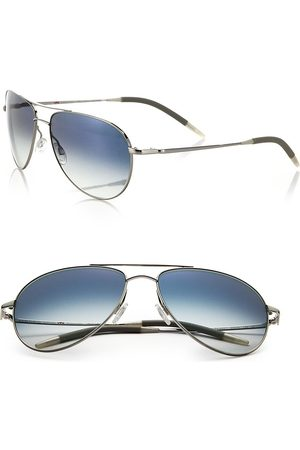 Oliver Peoples Women's Benedict 59MM Chrome Aviator Sunglasses