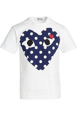Comme des Garçons Men's Polka Dot Logo T-Shirt - - Size Medium