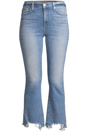 7 for all Mankind Women High Waisted - Women's High Rise Slim Kick Flare Cropped Jeans - Sloan Vintage - Size 31