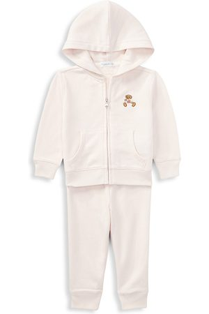 Ralph Lauren Baby Girl's 2-Piece Polo Hoodie & Joggers Set - - Size 3 Months