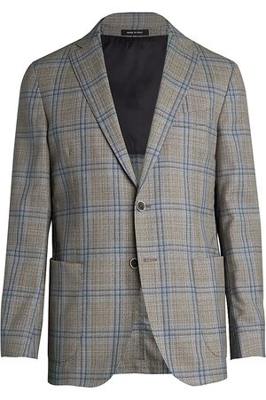 Saks Fifth Avenue Men's COLLECTION Double Windowpane Wool Sportcoat - - Size 42 R