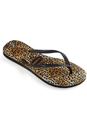Havaianas Little Girl's & Girl's Slim Leopard-Print Flip Flops - - Size 33-34 EU (3-4 Child US)