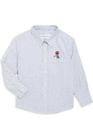 Maison Labiche Little Boy's & Boy's Coffee Dog Button-Front Shirt - - Size 8