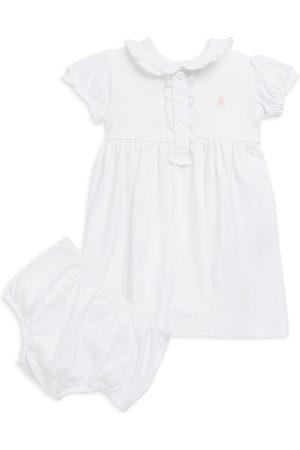 Ralph Lauren Baby Girl's Polo Dress & Bloomers Set - - Size 6 Months
