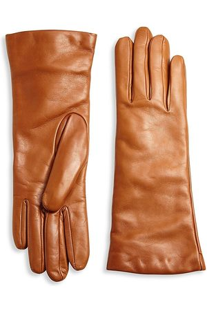 All Gloves Women's Cashmere-Lined Leather Gloves - - Size 7.5
