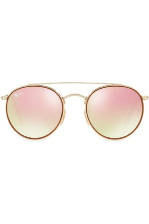Ray-Ban Women's RB3647 51MM Mirrored Round Aviator Sunglasses
