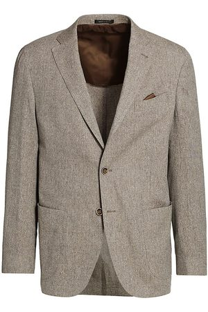 Saks Fifth Avenue Men's COLLECTION Solid Slub Weave Sportcoat - - Size 40 R
