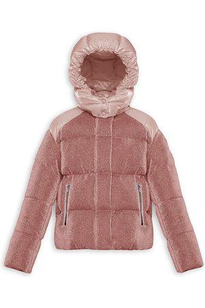 Moncler Little Girl's & Girl's Chouette Lurex Puffer Jacket - - Size 10