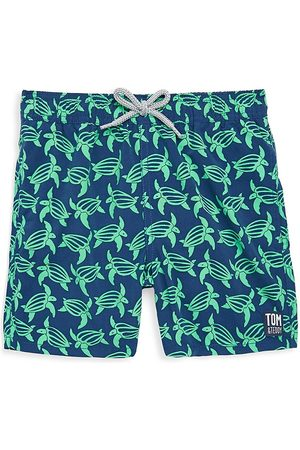 Tom & Teddy Baby Boy's, Little Boy's & Boy's Turtle Swim Trunks - - Size 11-12