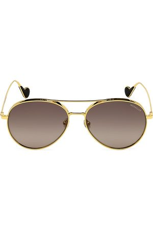 Moncler Women's 57MM Metal Aviator Sunglasses