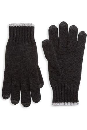 Saks Fifth Avenue Men's COLLECTION Touch Tech Cashmere Gloves - - Size Small-Medium