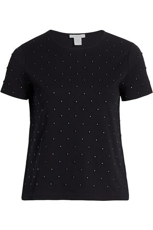 Joan Vass Women's Studded Front T-Shirt - - Size 2X (18-20)