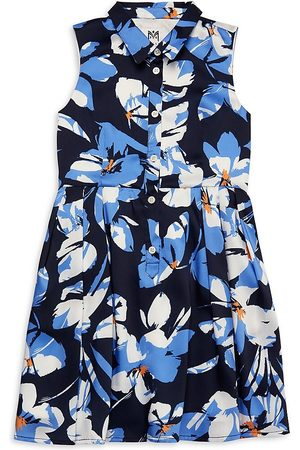 Milly Girl's Floral Flare Shirtdress - - Size 12