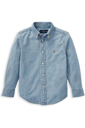 Ralph Lauren Little Boy's & Boy's Chambray Button Down Shirt - - Size 2