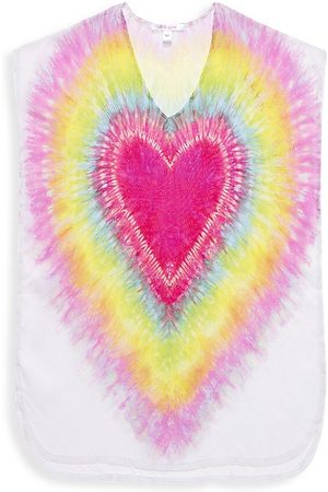 STELLA COVE Little Girl's & Girl's Tie-Dye Heart Poncho - - Size 6