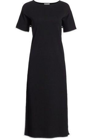 Joan Vass Women's Petite Cotton Midi Dress - - Size Petite Medium
