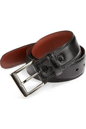 Saks Fifth Avenue Men's COLLECTION Lizard Belt - - Size 46