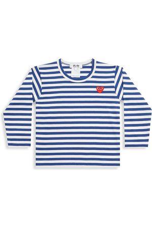 Comme des Garçons Little Kid's Play Kids Striped Logo Shirt - - Size 6