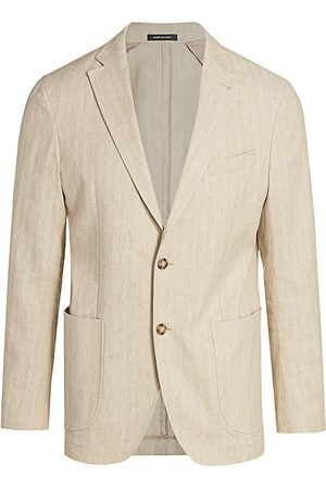 Saks Fifth Avenue Men's COLLECTION Herringbone Sport Jacket - - Size 38 R