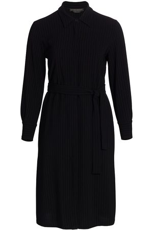 Persona by Marina Rinaldi Women's Dicembre Pinstripe Long-Sleeve Shirt Dress - - Size 18W