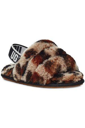 UGG Baby's, Little Kid's & Kid's Fluff Yeah Leopard-Print Sheepskin Slingback Slippers - - Size 8 (Toddler)