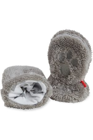 Magnetic Me Minky Star Drizzle So Soft Minky Magnetic Mittens - Grey - Size Newborn