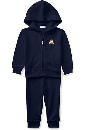Ralph Lauren Baby Boy's 2-Piece Atlantic Terry Zip-Up Hooded Sweater & Joggers Set - - Size 24 Months