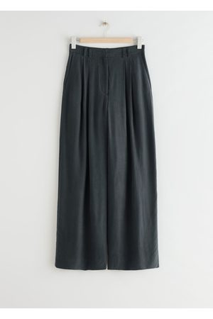 & OTHER STORIES Wide Relaxed High Waist Trousers