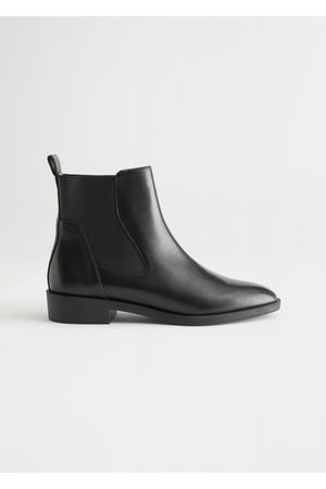 & OTHER STORIES Women Chelsea Boots - Almond Toe Leather Chelsea Boots