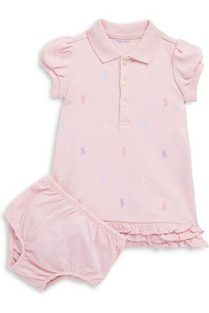 Ralph Lauren Baby Girl's Ruffled Polo Dress & Bloomers Set - - Size 9 Months